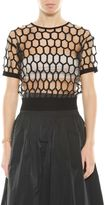 Dries Van Noten Fishnet Short Sleeves Top
