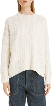 Loewe Logo Patch Cable Wool Sweater