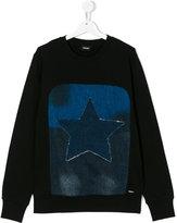 Diesel denim star patch sweatshirt