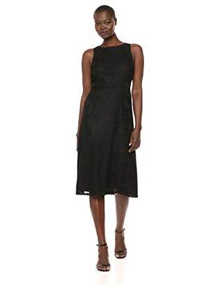 Nine West Women's Midi A-line Dress