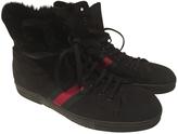 Gucci Black Unisex Sheepskin ankle boots