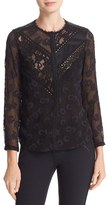 Rebecca Taylor Women's Chevron Lace Blouse