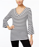INC International Concepts Bell-Sleeve Striped Top, Only at Macy's