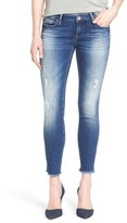 Mavi Jeans 'Serena' Distressed Stretch Ankle Jeans (Ripped Vintage)
