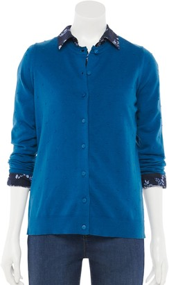Croft & Barrow Women's Button-Front Knitted Cardigan