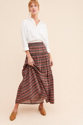 Anthropologie Farya Tiered Maxi Skirt