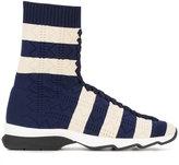Fendi stripe sock sneakers - women - Cotton/rubber - 38.5