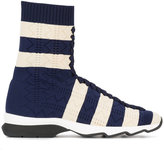 Fendi stripe sock sneakers