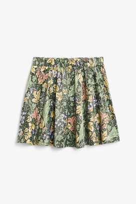 Monki Satin mini skirt