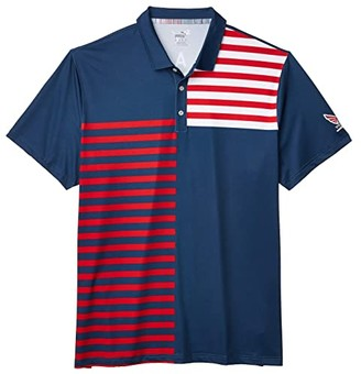 Puma Volition(r) Liberty Polo (Dark Denim) Men's Clothing