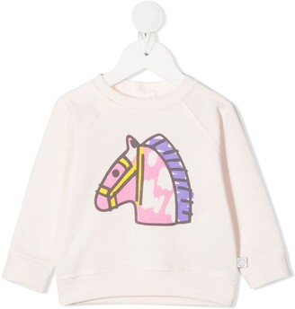 Stella Mccartney Kids Horse-Print Sweatshirt