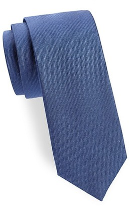 Saks Fifth Avenue Made In Italy Solid Textured Silk Tie