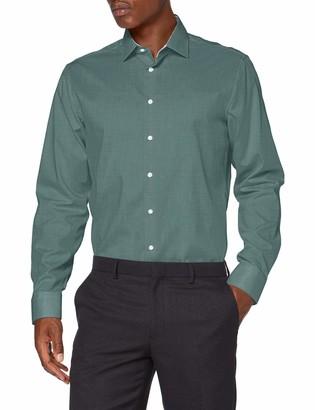 Seidensticker Men's Shaped Langarm uni bugelfrei 2 Dress Shirt