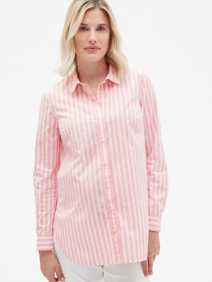 Gap Maternity Tailored Stripe Shirt in Poplin