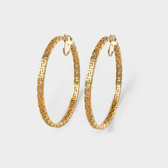 Versace Hoop Earrings In Golden Brass