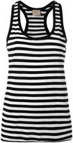 Laneus striped top - women - Cotton/Polyamide - XS