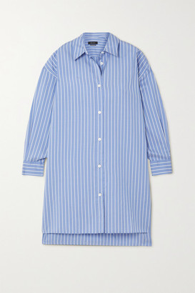 Isabel Marant Macali Oversized Striped Silk Shirt - Blue