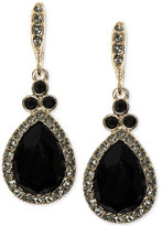 Givenchy Gold-Tone Faceted Teardrop Drop Earrings