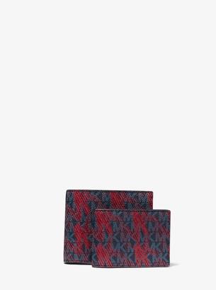 Michael Kors Greyson Logo Billfold Wallet With Passcase