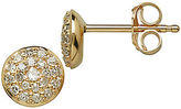 Lord & Taylor 14 Kt Yellow Gold and 0.17 ct t w Diamond Earrings