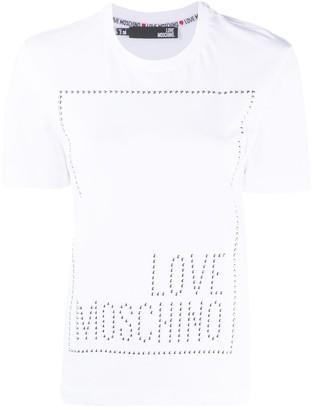 Love Moschino logo studded T-shirt