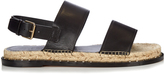 Valentino Rockstud espadrille and leather sandals