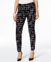 Alfani Petite Printed Skinny Ankle Pants, Only At Macy's
