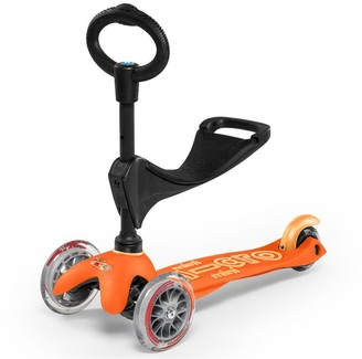 Micro Of Switzerland MICRO Mini 3-in1 Deluxe Kickboard Scooter Orange