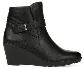 Naturalizer Jill Faux Leather Wedge Booties