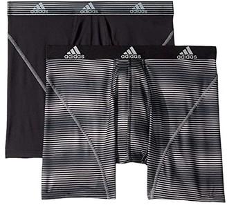 adidas Sport Performance Climalite Graphic 2-Pack Boxer Brief (Sundown Black/Black/Grey) Men's Underwear