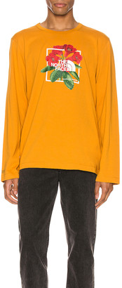The North Face Long Sleeve Himalayan Bottle Source Tee in Citrine Yellow | FWRD