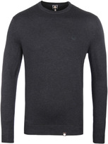 Pretty Green Mosley Charcoal Crew Neck Sweater