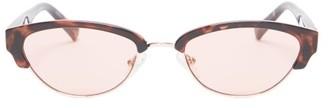 Le Specs Squardron Oval-frame Acetate Sunglasses - Womens - Tortoiseshell