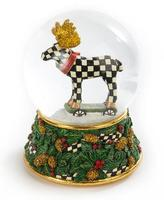 Mackenzie Childs MacKenzie-Childs Moose on Parade Snow Globe