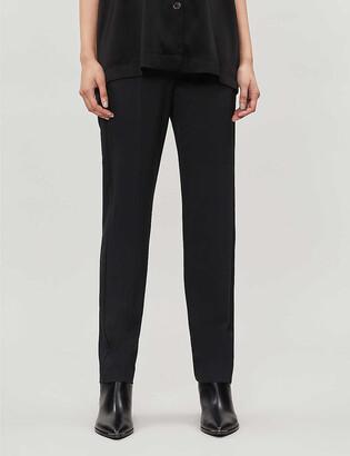 Maje Waist-tie twill trousers
