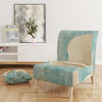 Design Art Designart 'Bouquet Poppies On Paisley II' Upholstered Cottage Accent Chair