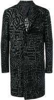 Etro geometric print coat