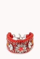 Forever 21 FOREVER 21+ Kitschy-Chic Woven Bracelet