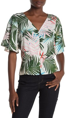 SUPPLIES BY UNION BAY Palm Dale Leaf Print Top