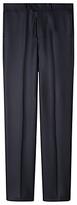 Aquascutum Herringbone Twill Suit Trousers, Navy