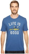 Life is Good Kayak Smooth Tee Men's Short Sleeve Pullover