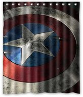 "Shower Curtains Fashionable Bathroom Collection-Custom The Captain America Shower Curtain Bath Decor Curtain 60 "" x 72 """