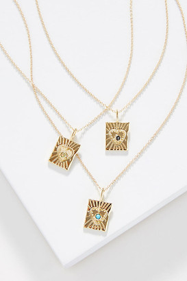 Studio Grun Lace Heart Necklace By Studio Grun in Black