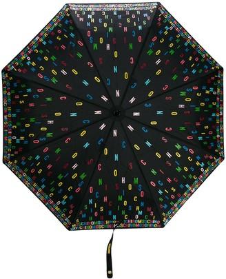 Moschino Multicoloured Logo Umbrella