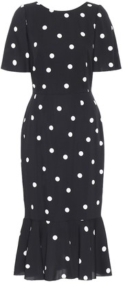 Dolce & Gabbana Polka-dot silk-charmeuse midi dress