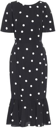 Dolce & Gabbana Polka-dot silk-charmeuse midi dress