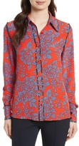 Diane von Furstenberg Women's Print Silk Shirt