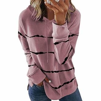 Rouyamiao Women Pullover Oversized Hoodies Long Sleeve Sweatshirt Casual Color Block Loose Hooded Top (Gray XL)