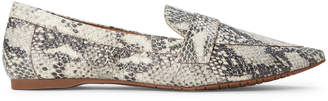Steve Madden Natural Jacinta Snakeskin-Effect Loafers