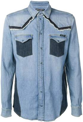 Dolce & Gabbana constructed denim shirt